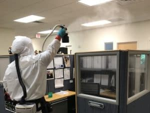 Decontaminating a commercial building in Tampa