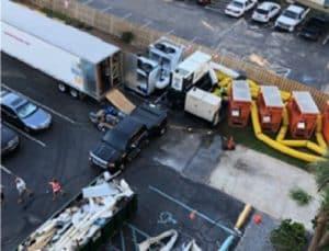 Warehouse flood damage equipment