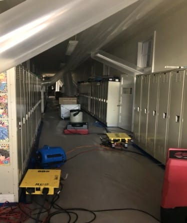 Water Damage Restoration Service in School