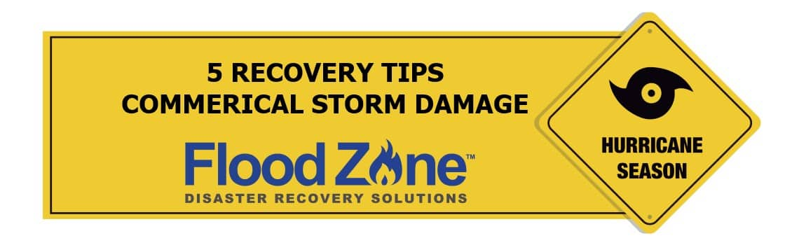 Commercial storm damage recovery tips
