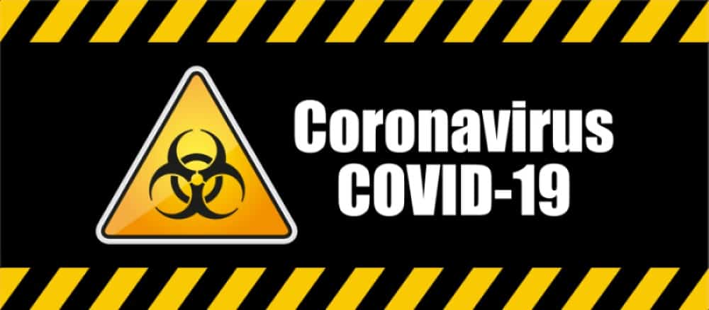 Coronavirus Disinfection Warning Sign