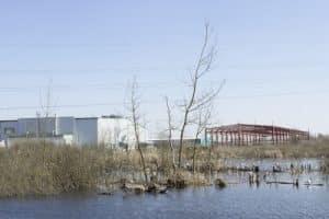 warehouse flood damage