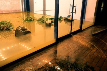 water damage in commercial building